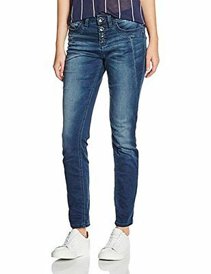 TOM TAILOR Jeans Relaxed Tapered, Donna, Blu (Stone Wash Denim), 42 cm (Taglia P