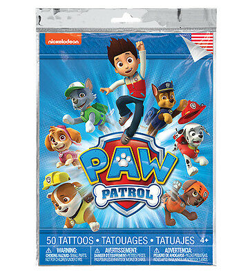 Paw Patrol Temporary Tattoos ~ 50 tattoos in every pack