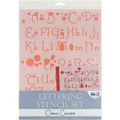 Clean Curves Lettering Stencil Set - Blue Hills Studio Alphabet And Numbers