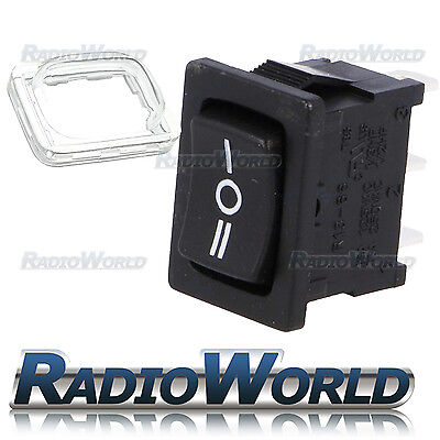 Momentary 12v Waterproof Rectangle Rocker Switch Car Dash (ON)-OFF-(ON) SP3T