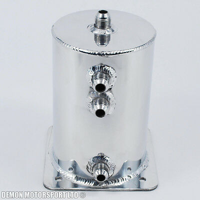 Alloy 1.5 Litre Fuel Swirl Pot Surge Tank JIC AN8 -8 8AN Drag Drift Track Race