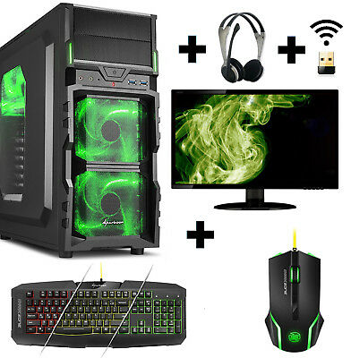 Gamer PC Komplett-Set AMD FX 8350 Nvidia GTX1060 16GB 250GB SSD 2TB Gaming Win10