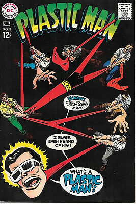 Plastic Man Comic Book #8, DC Comics 1968 VERY FINE-