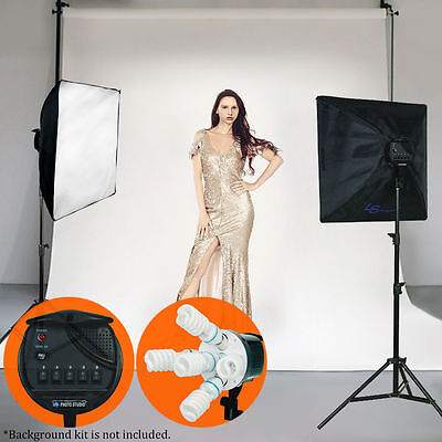 2000W Softbox Photo Studio Video Photography Light Stand Continuous Lighting Kit
