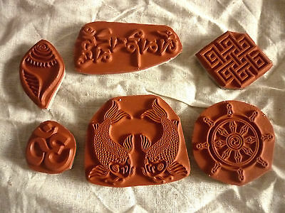 Buddhist Rubber Stamps - Backed with cling foam