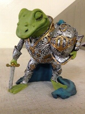 Vintage Hamilton Camelot Frogs Sculpture Collection- Knight Of The Lily Pad