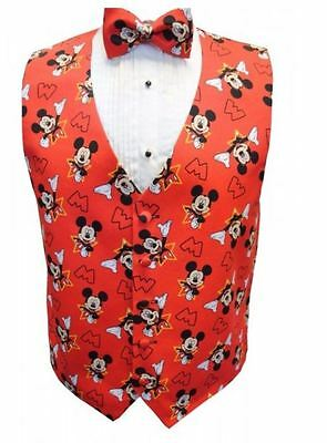 4d08fe0e5ea2 MICKEY MOUSE CELEBRATION Tuxedo Vest and Bowtie - $135.00 | PicClick
