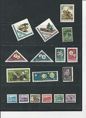 HUNGARY -  SELECTION OF USED STAMPS - HUN6abc  3 photos