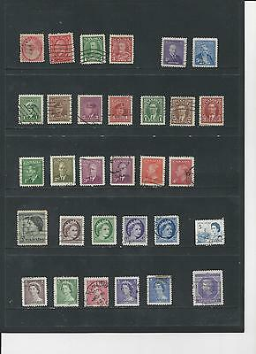 CANADA -  SELECTION OF USED STAMPS - CAN2abc  3 photos