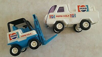 Vintage Buddy L Pepsi Forklift Toy And Delivery Truck Euc