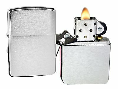 Zippo Lighter 162 Armor Brushed Chrome Windproof NEW