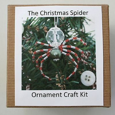 The Legend of the Christmas Spider Beading Ornament Kit. Makes 3. Holly Green