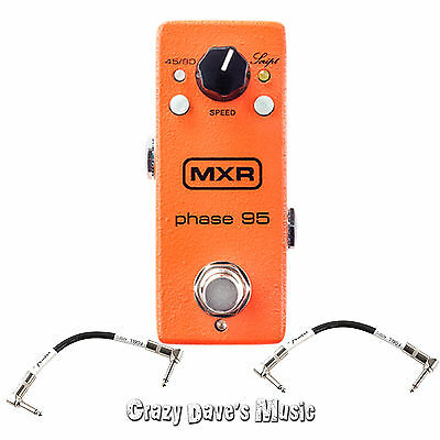 Dunlop MXR Phase 95 Mini Phase M290 with 2 Free Patch Cables AC adapter Included