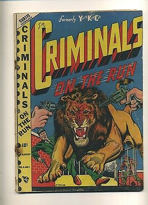 Criminals On The Run V4#1 (FR+) 1948 Premium L.B. Cole cover Golden Age (c#10060