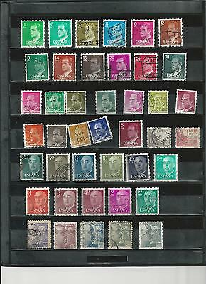 SPAIN - SELECTION OF USED STAMPS - SP1ab  2 photos