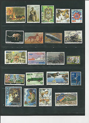 MALTA - SELECTION OF USED STAMPS - MLT22ab 2 photos