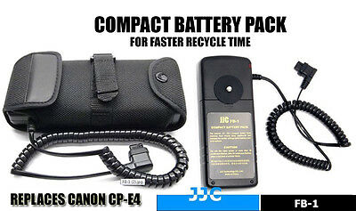 JJC FB-1 Flash External Battery Pack For Canon 550EX 580EX II CP-E4