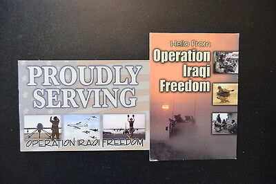 Lot of 2  OPERATION IRAQI FREEDOM POSTCARDS   USA military mail APO  service VG+