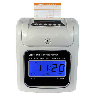 New Employee Attendance Time Clock Machine Print Paper Card Work Recorder Hot  D