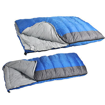 SINGLE or DOUBLE Sleeping Bag Envelope - Warm 400gsm Fill - Adult Season 3-4