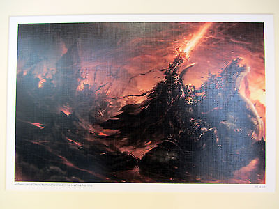 Warhammer Black Library Archaon Lord of Chaos A3 LTD ED Gallery Print