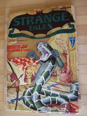 Strange Tales No. 1 from 1931 Clayton Publ Original - no reprint