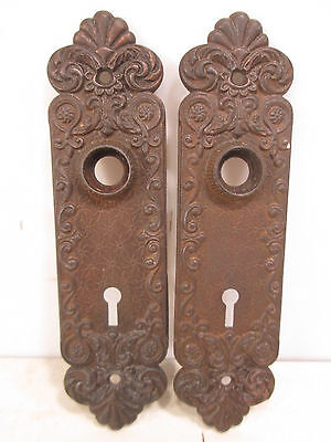 Vintage Pair of Victorian Design Iron Backplates #3