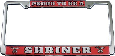 Proud To Be A Shriner Plastic License Plate Frame [Silver - Car/Truck]