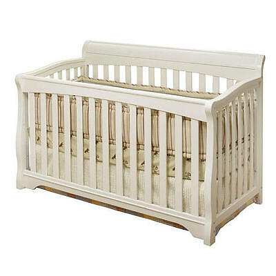Sorelle Florence 4-in-1 Convertible Crib With Toddler Rail - White