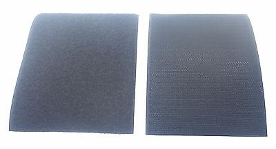 """4"""" Self Adhesive Black Hook and Loop Straps Fastening For Sew On"""