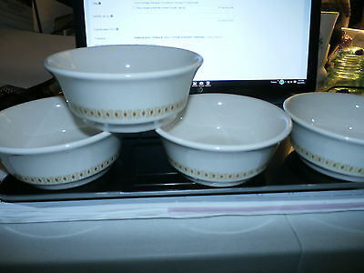 "Lot of 4 Vintage Shenango China/Anchor Hocking 5"" Cereal Bowls"
