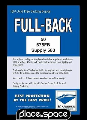 """50 CURRENT SIZE FULL BACK COMIC BACKING BOARDS - 6 3/4""""  x 10 3/8"""" (SUPPLY583)"""