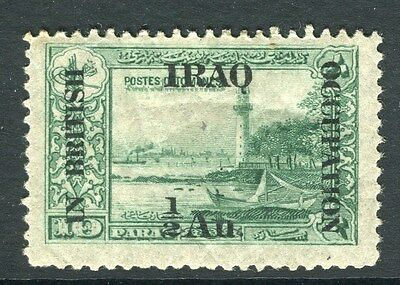 IRAQ;  1918 early BRITISH OCCUPATION issue fine Mint hinged 1/2a. value