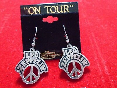 """Led Zeppelin / Cool Metal Jewelry, Earrings / 90's / New cond. / 1""""x 1"""""""