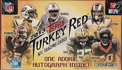 2013 Topps Turkey Red Football sealed box 11 cards 1 auto