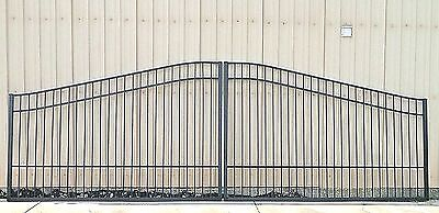 Aluminum Driveway Entry Gate 20 Foot Wide Dual Swing. Commercial - Residential