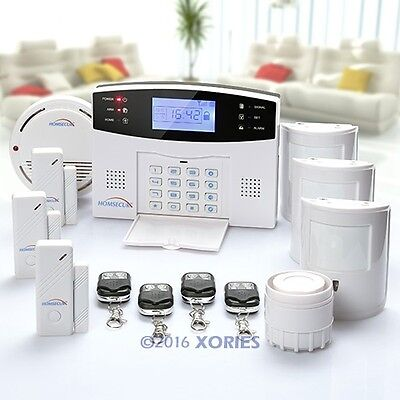 Wireless GSM SMS Home Security Alarm System+ 3Pet Friendly PIR Motion Sensors