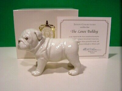 LENOX BULLDOG PUPPY Dog NEW in BOX with COA Mack