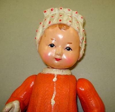 "Early Russian Soviet Old Celluloid Girl Baby Doll 10"" - USSR"