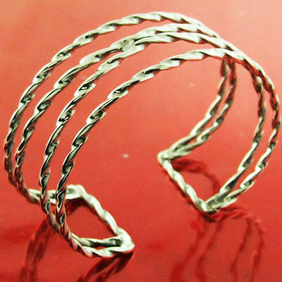 Ol4 Genuine Hallmarked Real 925 Solid Sterling Silver Cuff Bracelet Bangle