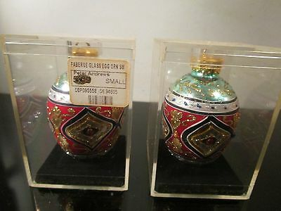 peter andrews glass egg faberge ornament lot
