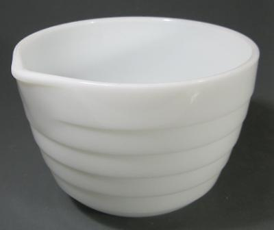 Vintage milk glass WESTINGHOUSE MIXER small mixing bowl small -art deco