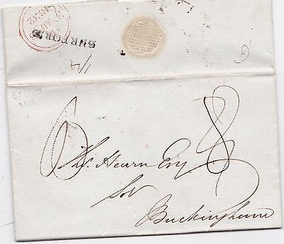 * 1832 Burford Mileage Erased Pmk James Price Letter >Thomas Hearn In Buckingham