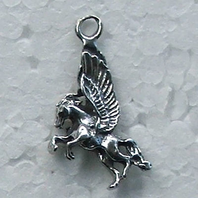 Pegasus Small Pewter Charm Made in Australia 1 bail For Earrings Bracelet