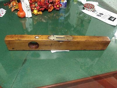 "Vintage Level Sargent & Company, NY 18"" - Wood and Brass great condition"