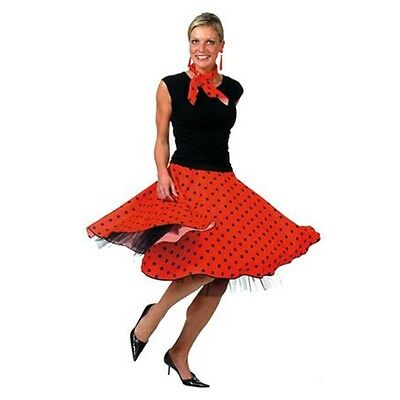 Rock 'n' Gonna Rosso Rullo - 50s Signore Costume A Pois N Roll