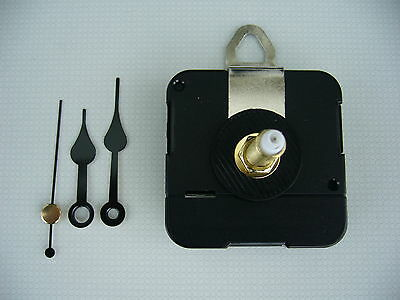 CLOCK MECHANISM QUARTZ EXTRA LONG SWEEP SPINDLE. 48mm FRENCH SPADE HANDS