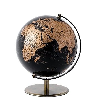 WORLD GEOGRAPHICAL GLOBE - Black and Copper 20cm - Brand NEW! - (A27791)
