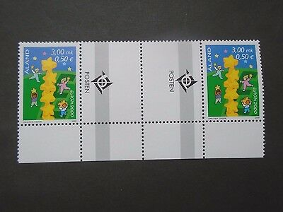 2000 United Europe Cept Gutterpair Fi Aland Islands Vf Mnh B64.27
