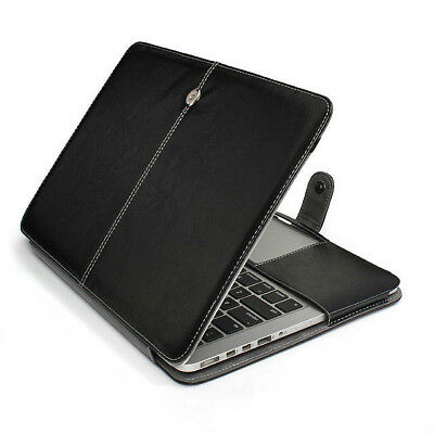 "Hard Cover Sleeve Protection Case for MacBook Pro 15"" Non-Retina Leather /P218"